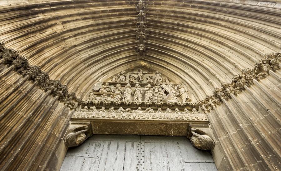 Portada de la iglesia del Santo Sepulcro. Estella