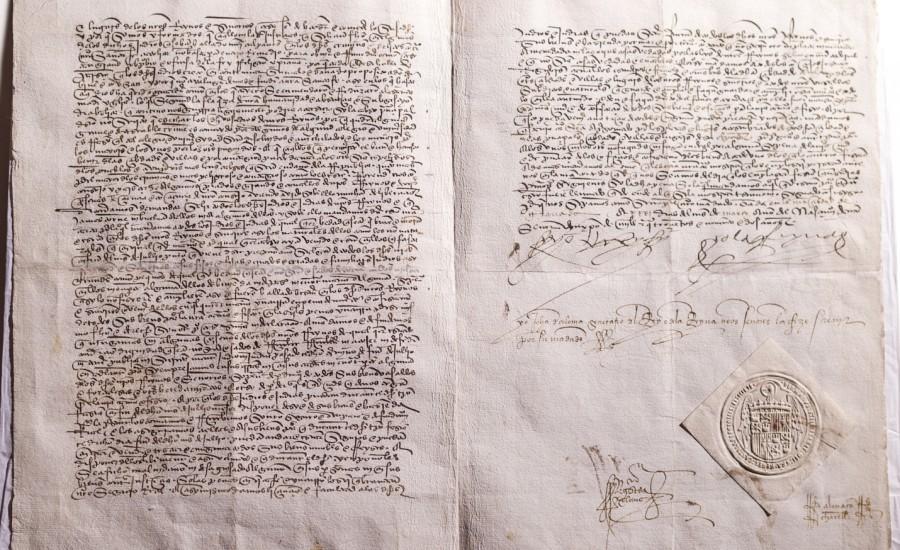 Edicto de expulsión de los Reyes Católicos a los judíos. Ávila