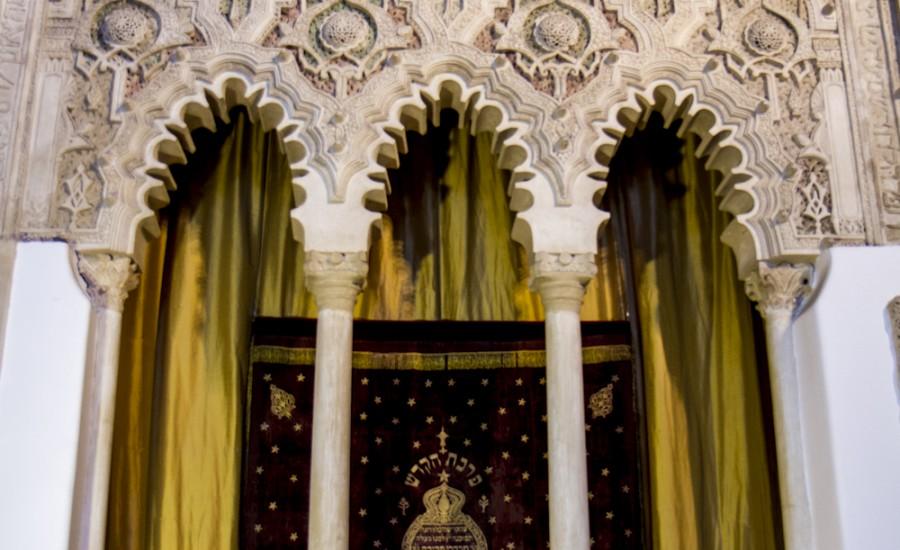 Muro del Hejal en la Sinagoga del Tránsito. Toledo