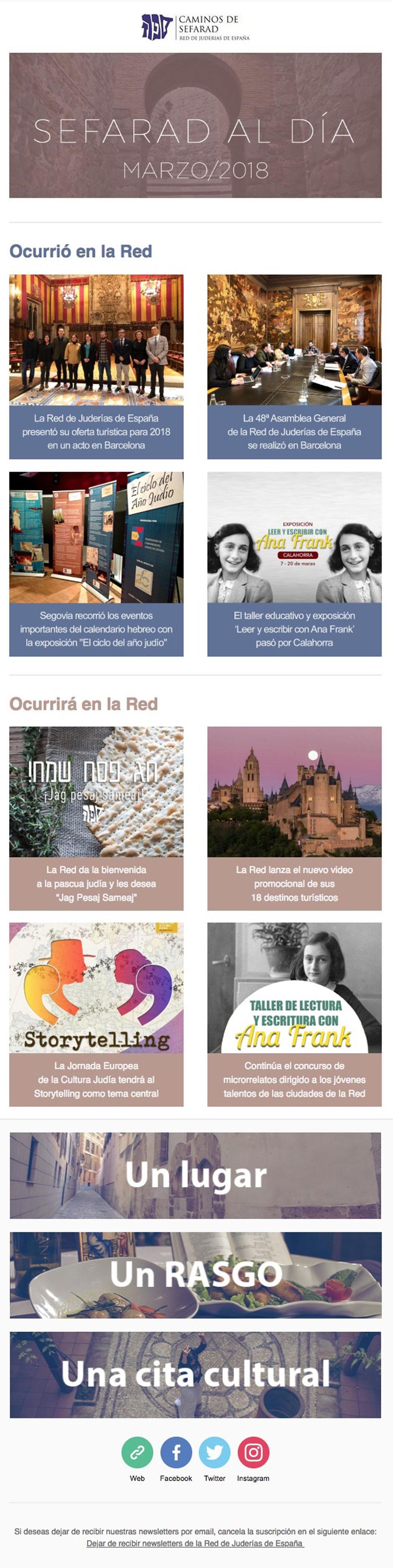 newsletter sefarad al día   Red de Juderías de España - Caminos de Sefarad