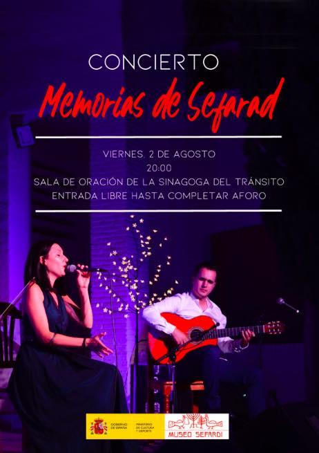 cartel concierto memorias de sefarad toledo